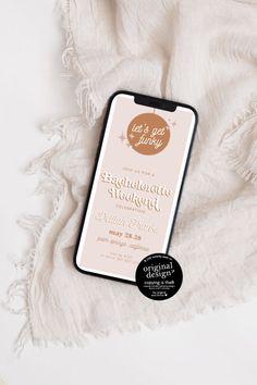 Disco Bachelorette Party Mobile Invitation Template