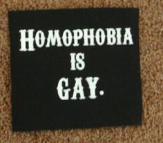 Homophobia is GAY patch lgbt pride queer punk by breatheresist, $2.00