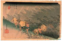 White Rain Shono - Hiroshige