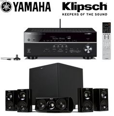 Yamaha RX-V681BL 7.2-Channel MusicCast AV Receiver with Bluetooth + Klipsch HDT-600 Home Theater System Bundle