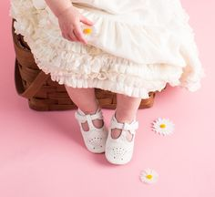Cora White Shoe by Livie and Luca