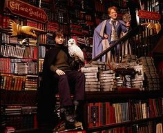 viele Bücher gibt es auch bei Harry Potter // there're a lot of books with Harry Potter too