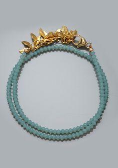 Ideeli  KATIE WALTMAN  Double Row Leaf Bracelet  $32.99