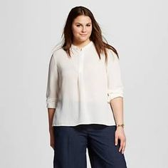 197fbb544ae07 Women s Plus Size Textured Pop Over - Who What Wear   Target Plus Size  Pants