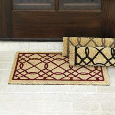 Suzanne Kasler Quaterfoil Coir Mat Ballard Designs Front Door Mats Porch Doormats