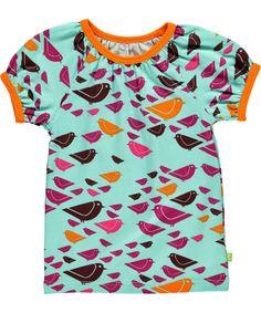 Mala schattige zomer t-shirt met vogeltjes print. mala.nl.emilea.be