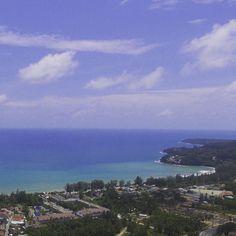 Bird's view of Kamala Beach from Himmapana Villas  #himmapana #himmapanavillas #villa #villas #luxuryvillas #luxury #kamala #kamalabeach #phuket #phuketthailand #thai #thailand #asia #realestate #beach #birdsview #sky
