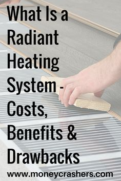 a Radiant Heating System – Costs, Benefits & Drawbacks Would you install a radiant heating system in your home to save money on heating?Would you install a radiant heating system in your home to save money on heating? Heated Bathroom Floor, Heated Tile Floor, Bathroom Plumbing, Radient Floor Heating, Hydronic Radiant Floor Heating, In Floor Heating, Hydronic Heating, Radiant Heating System, Fireplaces