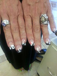 Vegas/casino nails
