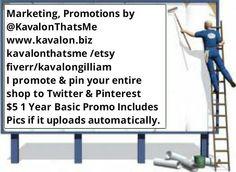 Promo Entire eBay Zibbet Amazon Etc Twitter Advertising 1 Year @KavalonThatsMe