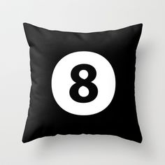 8 Ball Throw Pillow by McGrathDesigns - $20.00