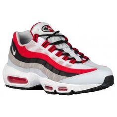 sports shoes b85b0 12025 Nike Air Max 95 - Men s - Running - Shoes - University Red Wolf Grey Black Pure  Platinum White-sku 49766601