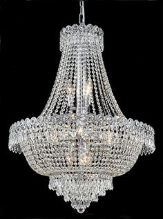 Custom marie antoinette crystal chandelier oh my dreamy dwellings century clear crystal chandelier w 12 lights in chrome httpchandelierspot aloadofball Image collections