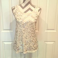 PRICE DROP! Juicy Couture Sequined Tank Perfect condition.  Juicy tank that dresses up your average shorts and tank top outfit. 100% modal. Size small. Juicy Couture Tops Tank Tops