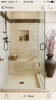 Valley Close Renovation - Inspiration for a transitional bathroom in Toronto with a corner shower and beige tile. by magnus_design Bathroom Design Small, Bath Design, Bathroom Ideas, Bathroom Designs, Mirror Bathroom, Modern Bathroom, Relaxing Bathroom, Bathroom Showers, Bathroom Stuff