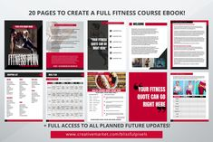 Fitness ebook Template by Blissful Pixels on @creativemarket Fitness Courses, You Fitness, Meal Planning, Templates, How To Plan, Business, Building, Role Models, Buildings