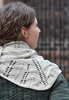 Duke St. Shawl knitting pattern, by Glenna C