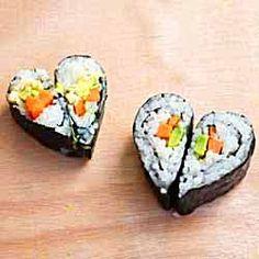 Heart-Shaped Sushi