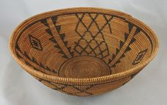 "10"" diameter by 4 1/2"" deep, lovely open bowl shape with a ""broken"" fishing net design."
