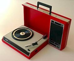 Philips 1970s portable record player | #vintage #retro