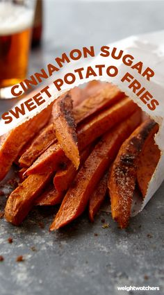 Crispy on the outside and oh-so soft on the inside, these Cinnamon Sugar Sweet Potato Fries are a finger licking delicious! 4pp  Yummy in my tummy!  5/5