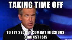 See more 'Brian Williams Misremembers' images on Know Your Meme! Haha Funny, Funny Memes, Hilarious, Jokes, Funny Stuff, Brian Williams Memes, Wayne's World, Friday Humor, Know Your Meme