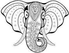 Image result for indian elephant template