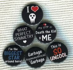 1.25 Soul Eater anime quote Pinback Button by TinyAltoButtons, $1.50