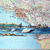 High School Art Projects, Map Crafts, Map Artwork, Map Projects, Map Painting, Blackout Poetry, A Level Art, San Clemente, Middle School Art