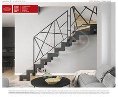 Staircase Railing Design, Home Stairs Design, House Design, Balustrades, Steel Stairs, Interior Architecture, Interior Design, Room Design Bedroom, Iron Furniture