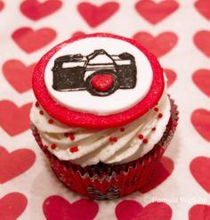 Valentines Day Camera cupcake