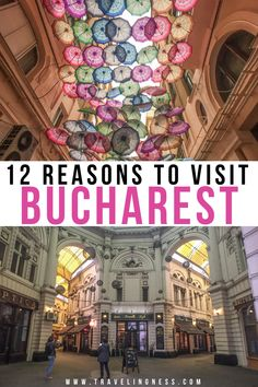 Bucharest, the capital of Romania has a fascinating history, awesome graffiti art, food and culture. Bucharest is a beautiful city that deserves a lot more attention than it gets as it is a European gem. Use this guide to find out the best things to do in Bucharest and where to stay when traveling there! #bucharest #romania #bucharestromania #bucharesttravel