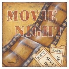 Posterazzi Movie Night Canvas Art - Kim Lewis x Framed Artwork, Wall Art, Antique Collectors, Country Signs, Home Based Business, Classic Beauty, Find Art, Custom Framing, Fine Art Prints