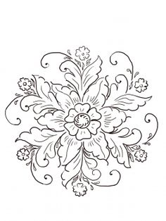 Thinking of designing a tattoo with Norwegian Rosemaling heavily incorporated.