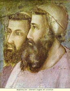 Giotto. Confirmation of the Rule, detail. c.1320s. Fresco. Santa Croce, Bardi Chapel, Florence, Italy.