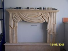 Fireplace Greek Dionyssos marble. Contact: sales@marmara.gr Valance Curtains, Marble, Greek, Home Decor, Decoration Home, Room Decor, Granite, Marbles, Home Interior Design