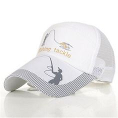 b3fa284f Fishing Hats For Men Anti-Uv Protection Caps Mesh Breathable Embroidery  Grid Cap