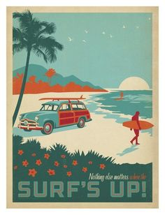 Surf's Up Posters by Anderson Design Group - AllPosters.co.uk
