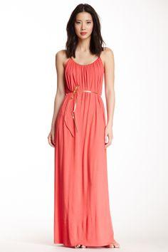 Tiana B. Gold Trim Maxi Dress