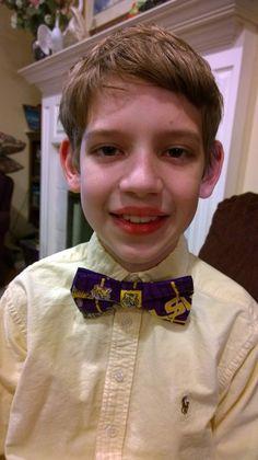 Evan's new LSU bow tie.