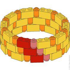 1×2-Steinkreis mit 1×1-Rundsteinen | Tobias Buckdahn
