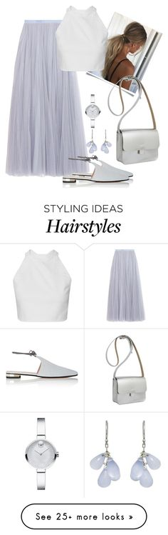 """""""Elise"""" by laash85 on Polyvore featuring Needle & Thread, Movado, Barneys New York, Ten Thousand Things and Kate Sheridan"""