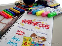 MARCADO DE CUADERNOS - YouTube Notebook Binder, Sk2, Pretty Letters, Cute School Supplies, Up Halloween, School Notes, Diy And Crafts, Doodles, Bullet Journal