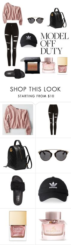 """""""Lazy day"""" by condoleezza ❤ liked on Polyvore featuring American Eagle Outfitters, Topshop, Gucci, Christian Dior, Puma, adidas, Burberry and Bobbi Brown Cosmetics"""