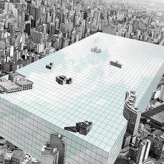 """Imagem 2 de 16 da galeria de Arte e Arquitetura: """"Superstudio Revisitado"""" por Nitsche Arquitetos + Jorn Konijn. Fotomontagem © Nitsche Arquitetura"""