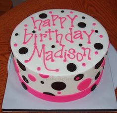 Birthday Cakes for Teen Girls | iced in buttercream with fondant accents