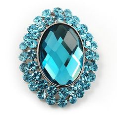 f5ac4d01cd9 Jewelry - Brooches & Pins · Turquoise Crystal Button Shaped Fashion Brooch  Avalaya. $32.40. Occasion: anniversary, cocktail party