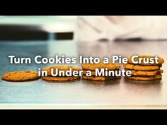 Turn Cookies Into a Pie Crust in Under a Minute - YouTube