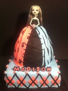 Monster High Doll Cake