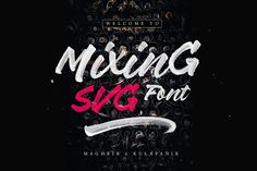 Handpainted SVG brush font made using high resolution brush stroke images with incredible definition.
